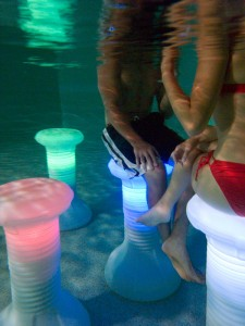 LED Pool Stool